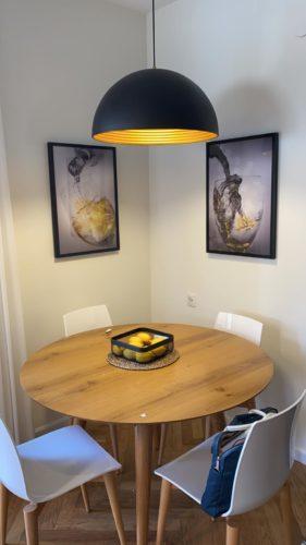 'שותים לחיים' זוג תמונות יפות למטבח ולפינת אוכל על קנבס דגם 3421820 photo review