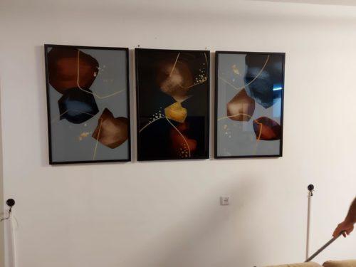 סט 'אבנים צבעוניות' 3 תמונות זכוכית לסלון דגם SLH-3251 photo review
