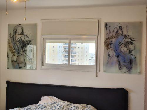 סט תמונות קנבס אבסטרקט לחדר שינה 'אדם וחווה' דגם 99977692 photo review