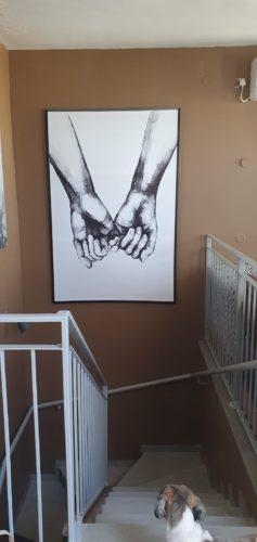 Love - סט 3 תמונות קנבס זוגיות מינימליסטיות לתלייה בחדר שינה דגם 670611 photo review